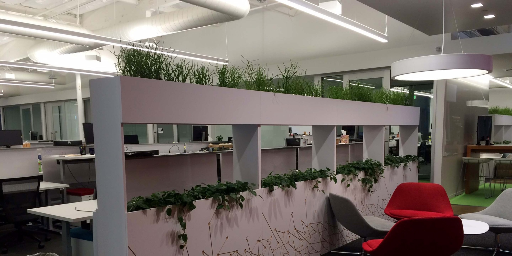 Baidu Living Partitions Living Wall by Habitat Horticulture - View 1