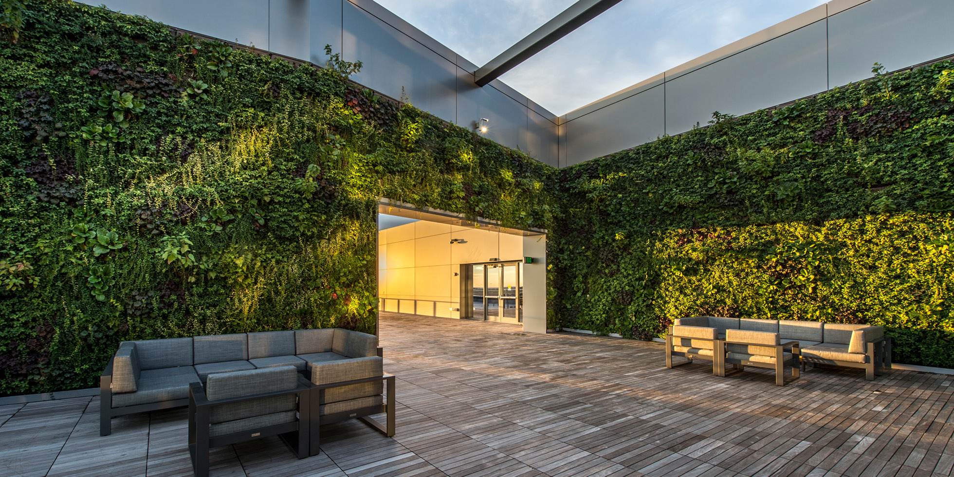Boston Pier 4 Living Wall by Habitat Horticulture - View 1