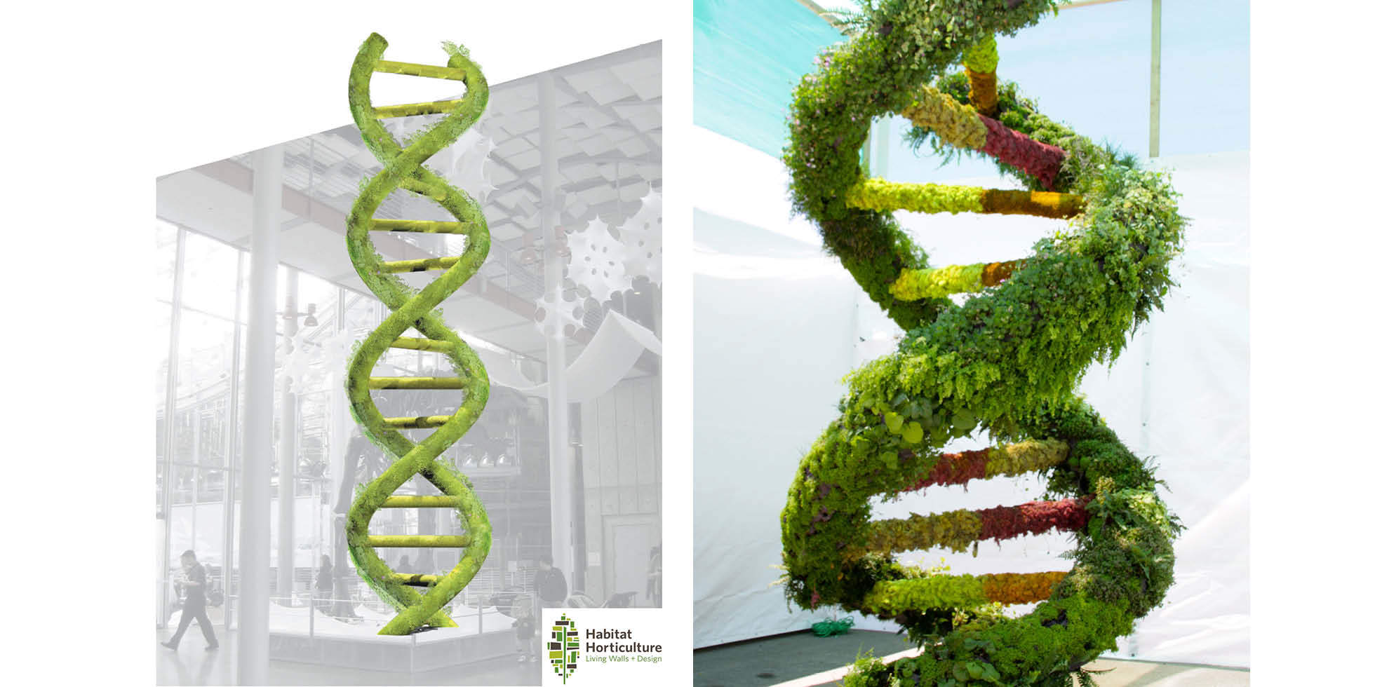 Living Double Helix Living Wall by Habitat Horticulture - View 3