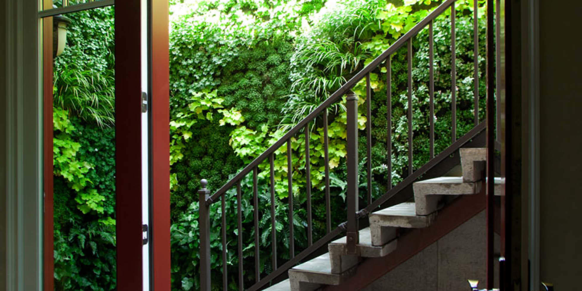 Los Altos Stairwell Living Wall by Habitat Horticulture - View 3