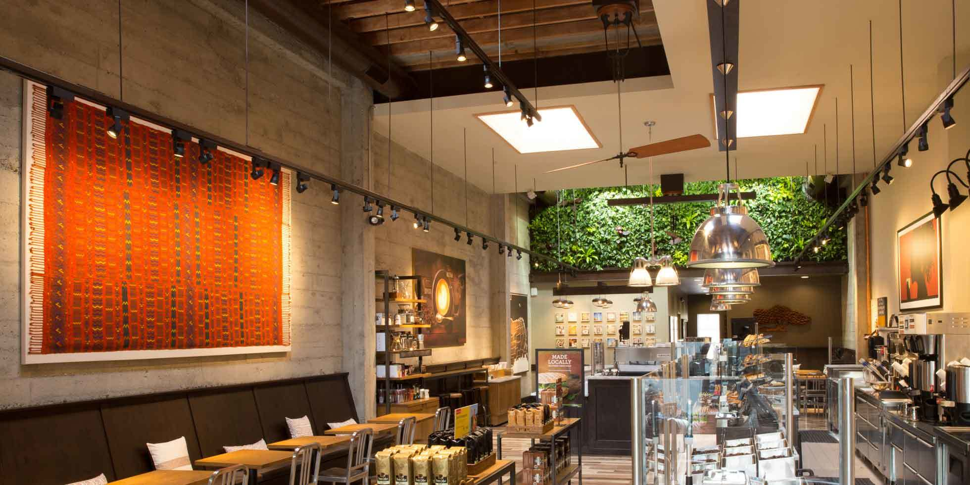 Peet's Coffee & Tea Living Wall by Habitat Horticulture - View 1
