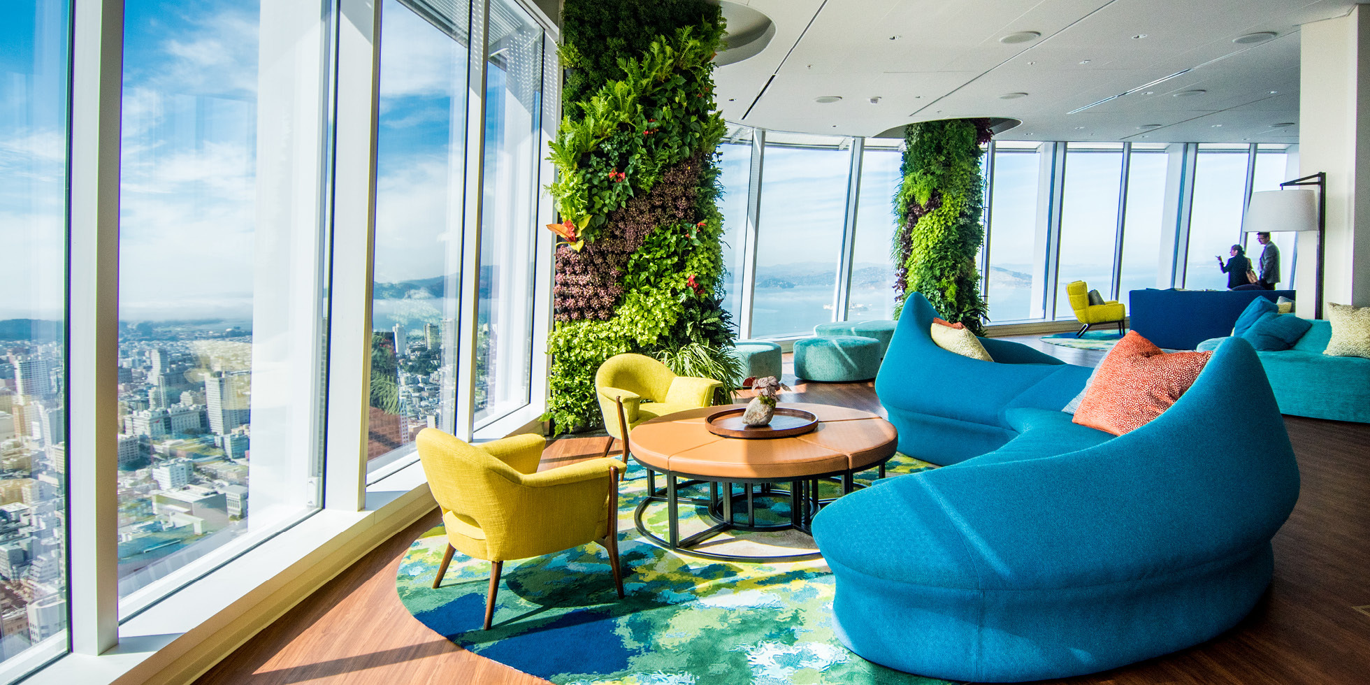 Salesforce Tower  Living Wall by Habitat Horticulture - View 1