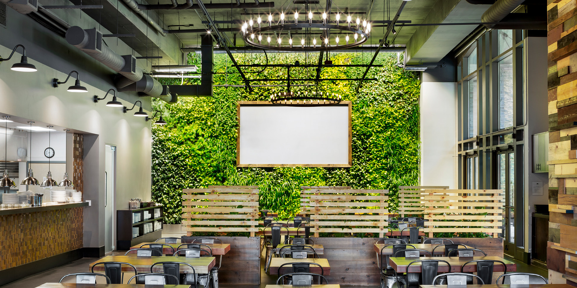 Steins Beer Garden Living Wall by Habitat Horticulture - View 1