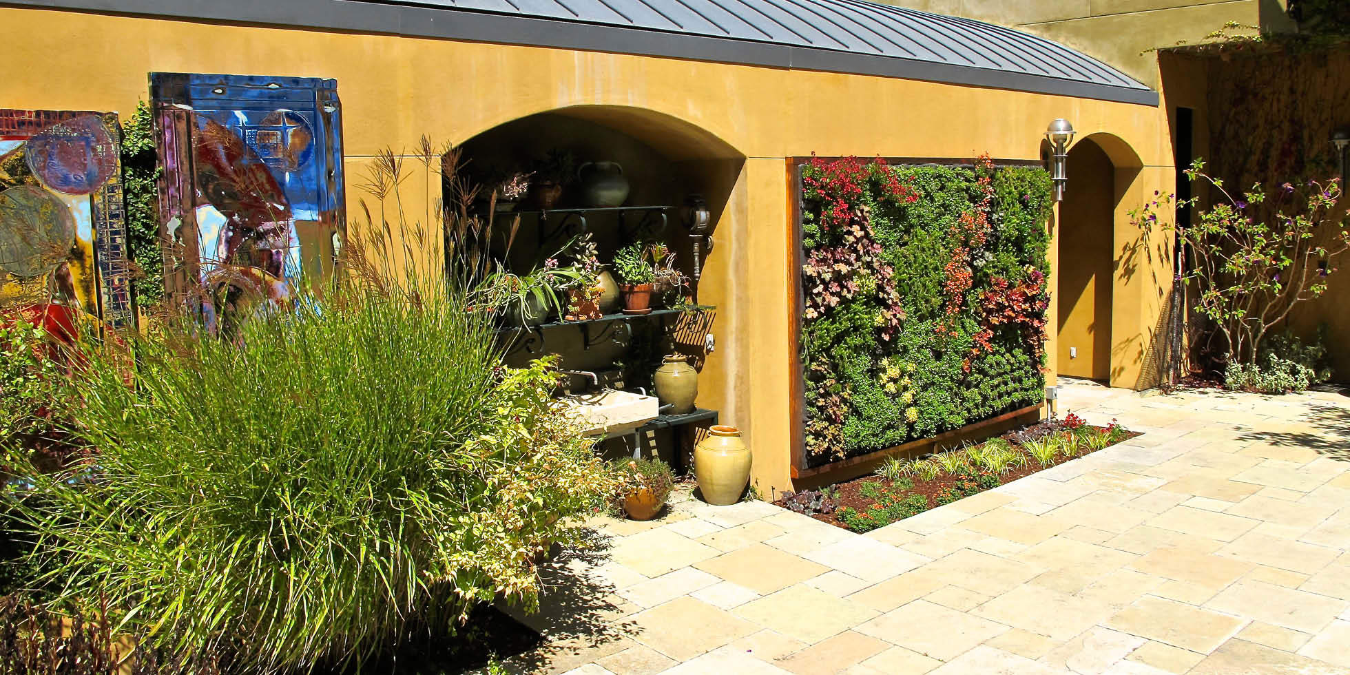 Tiburon Estate Living Wall by Habitat Horticulture - View 1